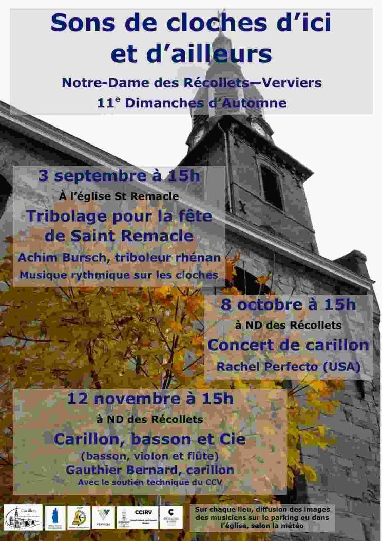 Concert de carillon par Rachel Perfecto (USA) @ Notre-Dame des Récollets