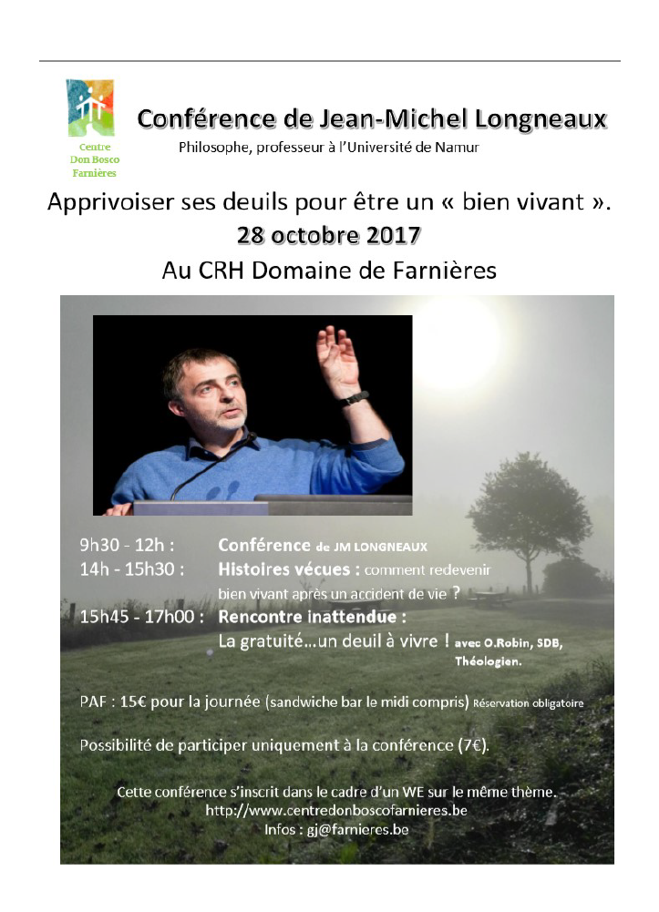 Apprivoiser ses deuils @ Centre Don Bosco Farnières Asbl | Vielsalm | Wallonie | Belgique
