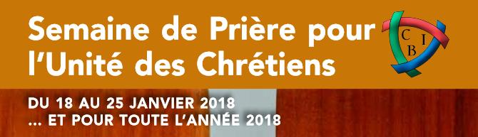 Programme de la semaine de prière pour l'unité des chrétiens 2018