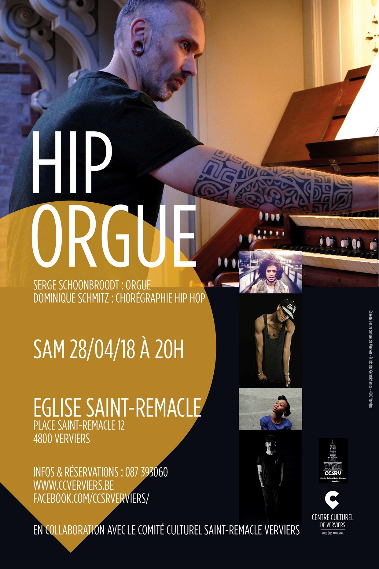 « Hiporgue », danse hip-hop et orgue @ Eglise Saint Remacle | Verviers | Wallonie | Belgique