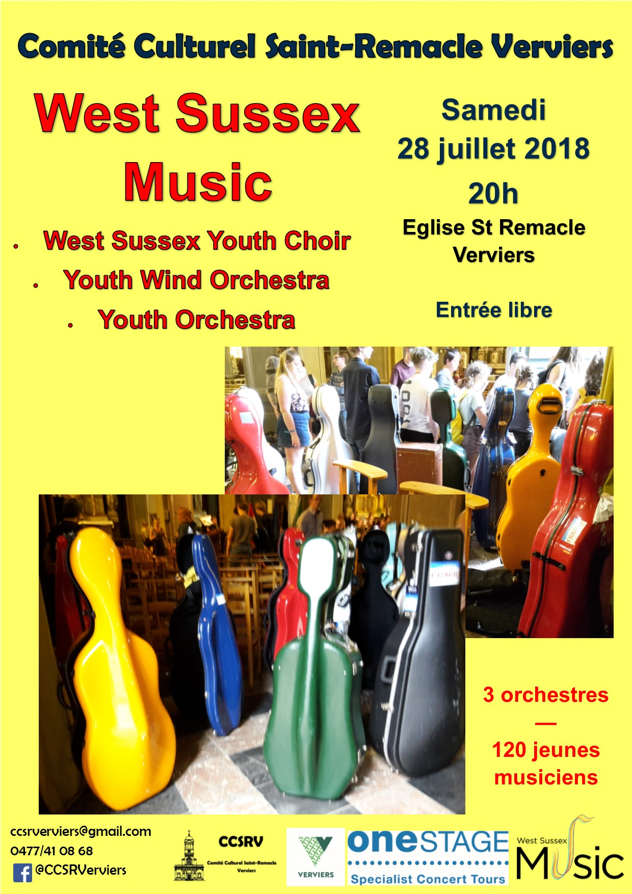 120 musiciens anglais, chœur et band @ Saint Remacle