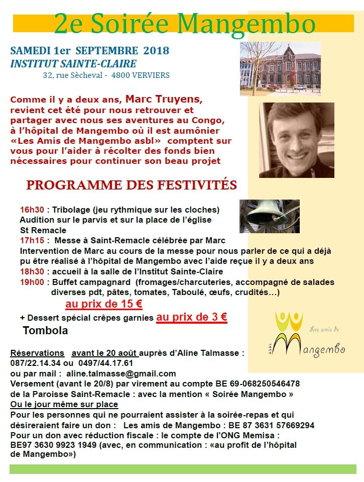 2ème Soirée Mangembo @ INSTITUT SAINTE-CLAIRE | Verviers | Wallonie | Belgique