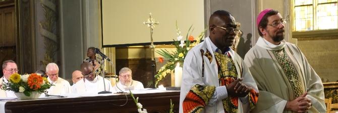 Quelques photos de la cérémonie d'installation de notre nouveau doyen par Monseigneur Delville