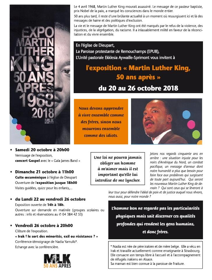 Martin Luther King 50 ans après @ Eglise Notre-Dame de Dieupart | Aywaille | Wallonie | Belgique