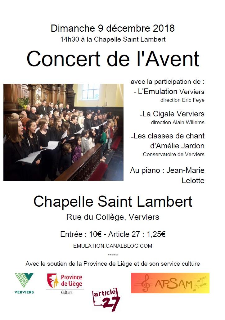Concert de l'Avent @ Chapelle Saint Lambert | Verviers | Wallonie | Belgique