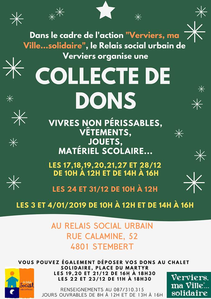 "Collecte ""Verviers, ma ville solidaire"""