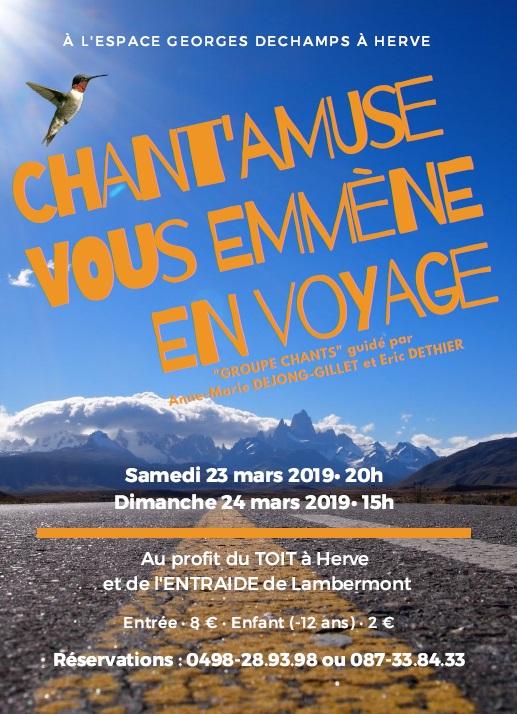 Concert chorale @ Espace Georges Deschamps, Herve