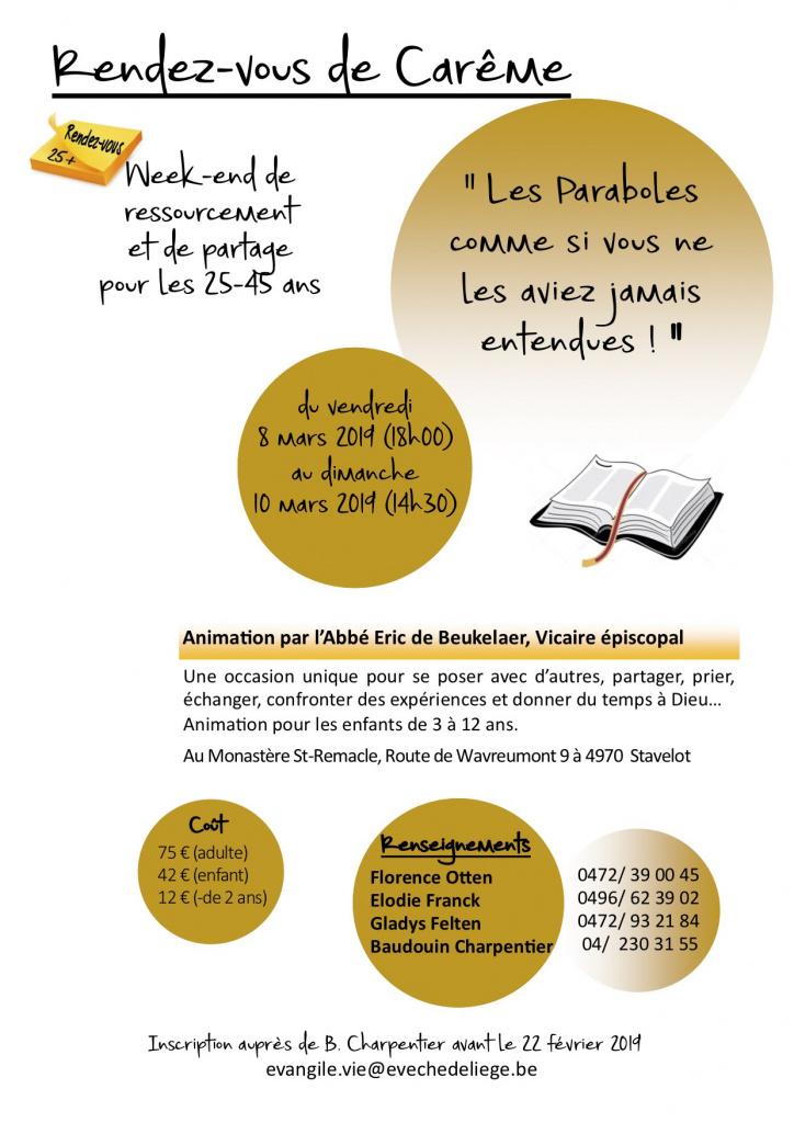 Rendez-vous de Carême @ Monastère St-Remacle | Malmedy | Wallonie | Belgique