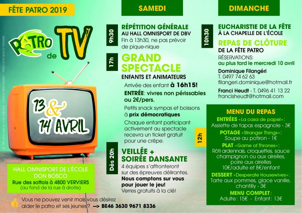 Fête du Patro 2019 @ Hall omnisport de Don Bosco | Verviers | Wallonie | Belgique