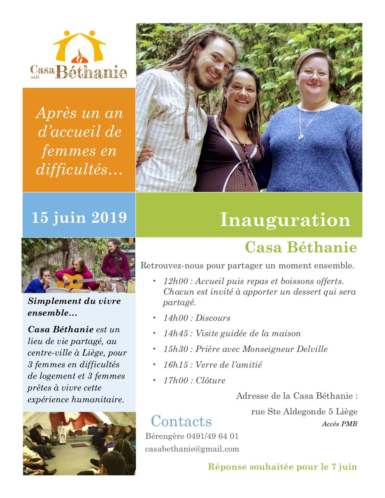 Inauguration de la Casa Bethanie avec Mgr Delville @ Casa Bethanie | Liège | Wallonie | Belgique