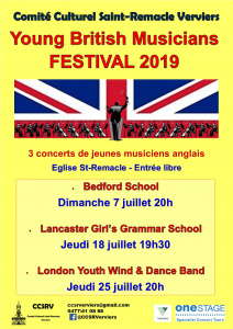 Concerts gratuits : London Youth Wind & Dance Band @ Eglise Saint Remacle