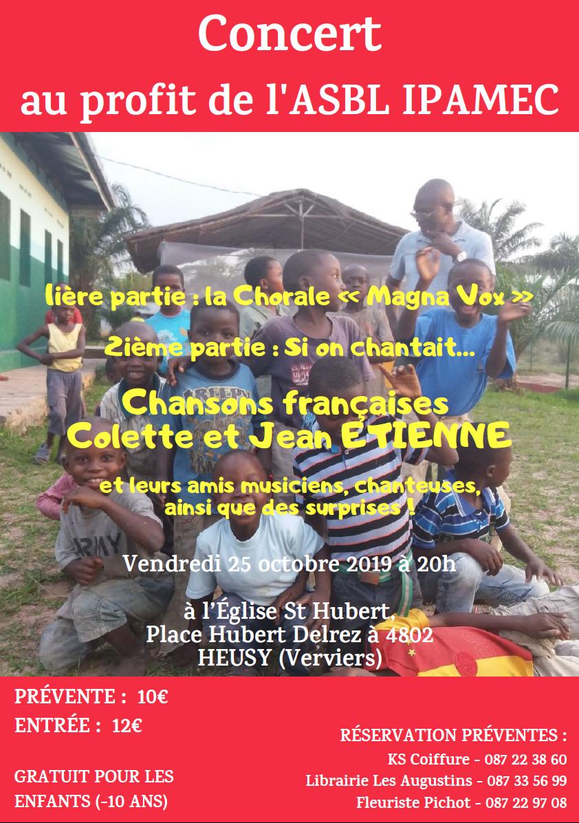 Concert pour IPAMEC @ Eglise de Heusy