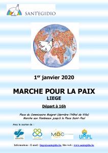 Marche pour la paix 2020 @ Liège, centre-ville